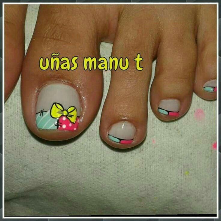 Pin de Mily en PEDICURE | Pinterest | Uñas pies, Diseños para uñas y ...