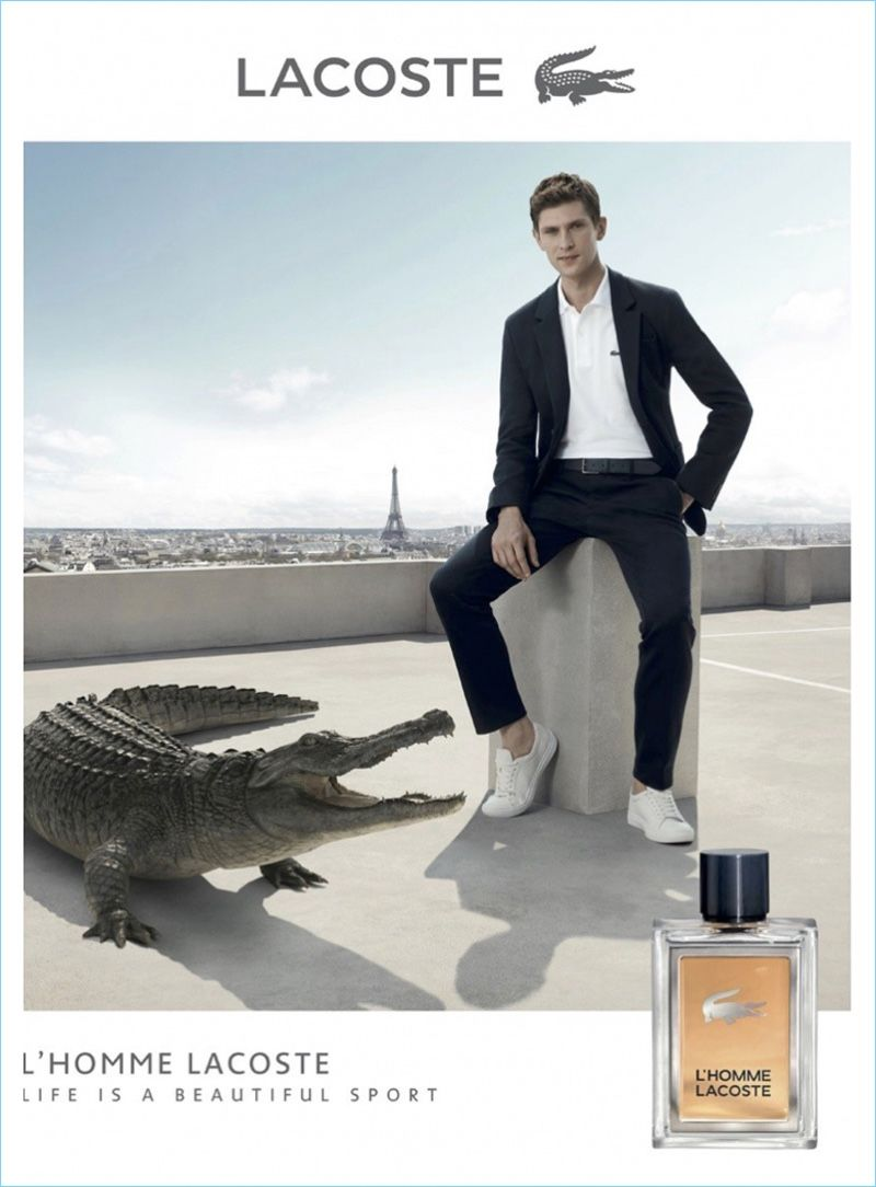 Mathias Lauridsen Reunites With Lacoste For Lhomme Fragrance