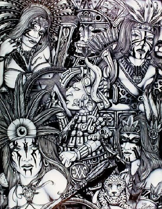 Aztec drawing
