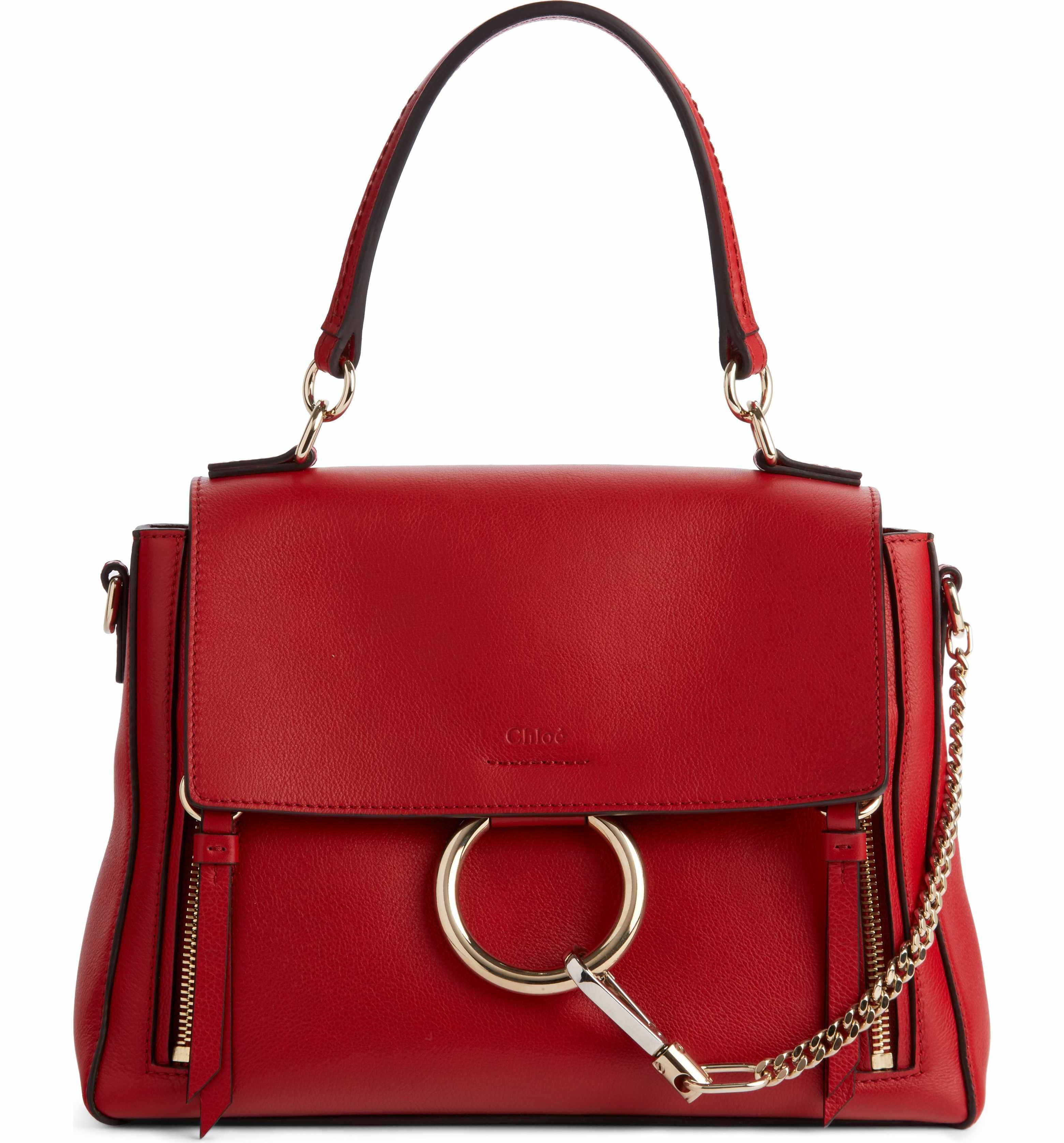 8737f033acc29 Chloe Faye Day Small Grained Leather Shoulder Bag