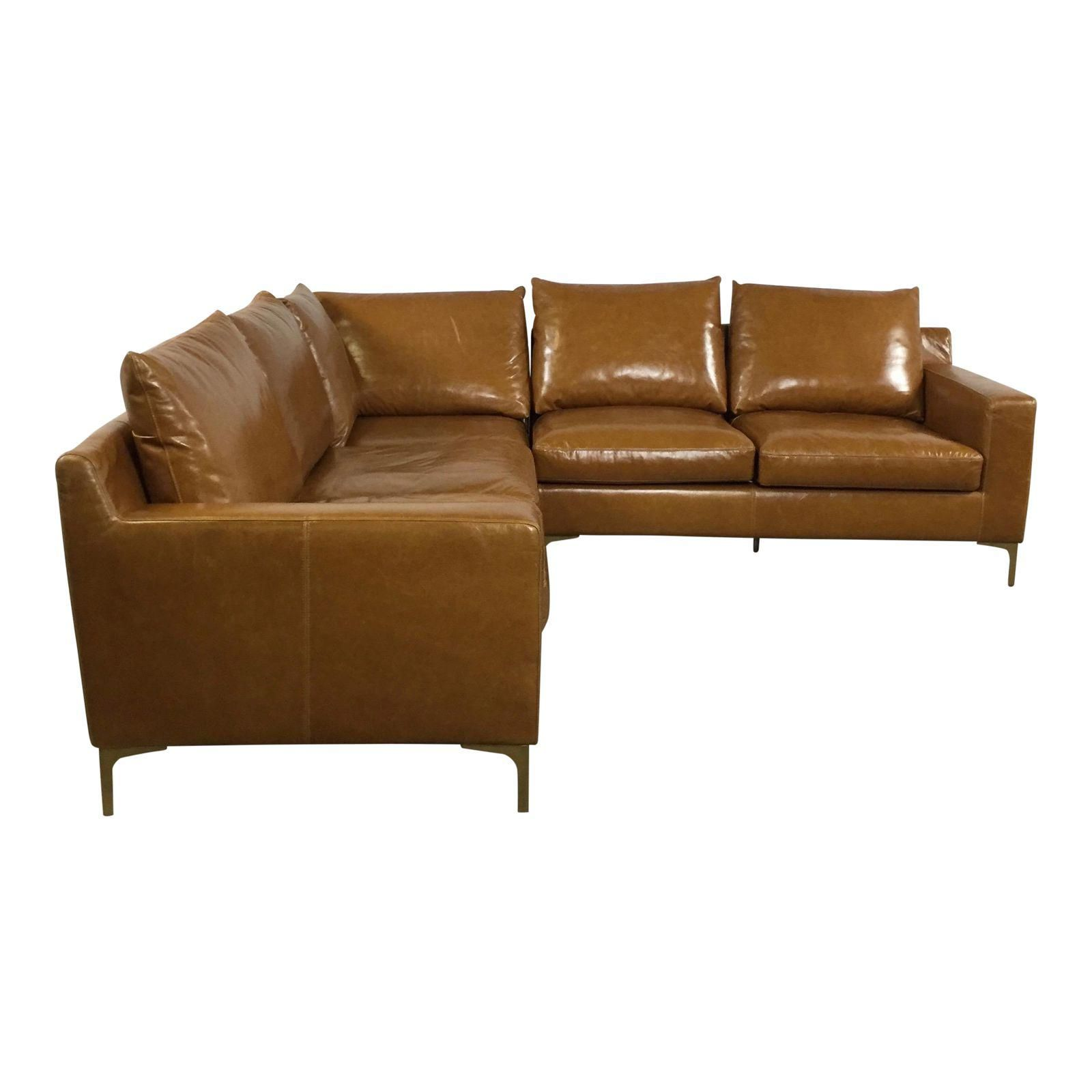 Superb Image Of Modern Saddle Leather Sectional Sofa Midcentury Alphanode Cool Chair Designs And Ideas Alphanodeonline