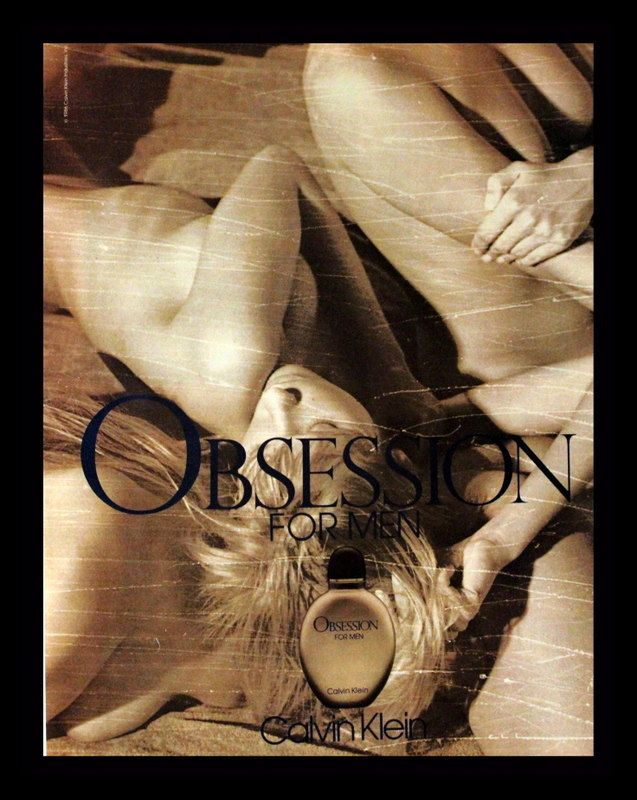 1988 Obsession Cologne For Men by Calvin Klein Ad Wall Art