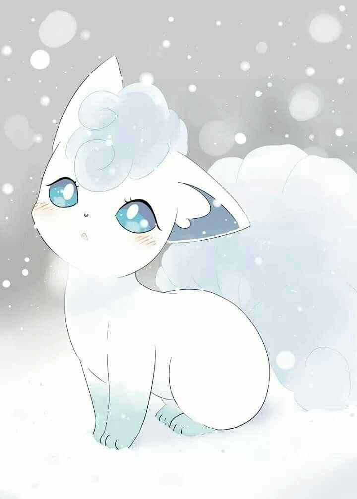 It S A Cute Winter Fox Alolan Vulpix Pokemon Pokemon Realista