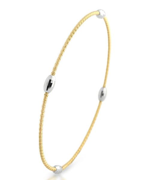 Take a look at the Gold & Silver Oval Bangle on #zulily today!