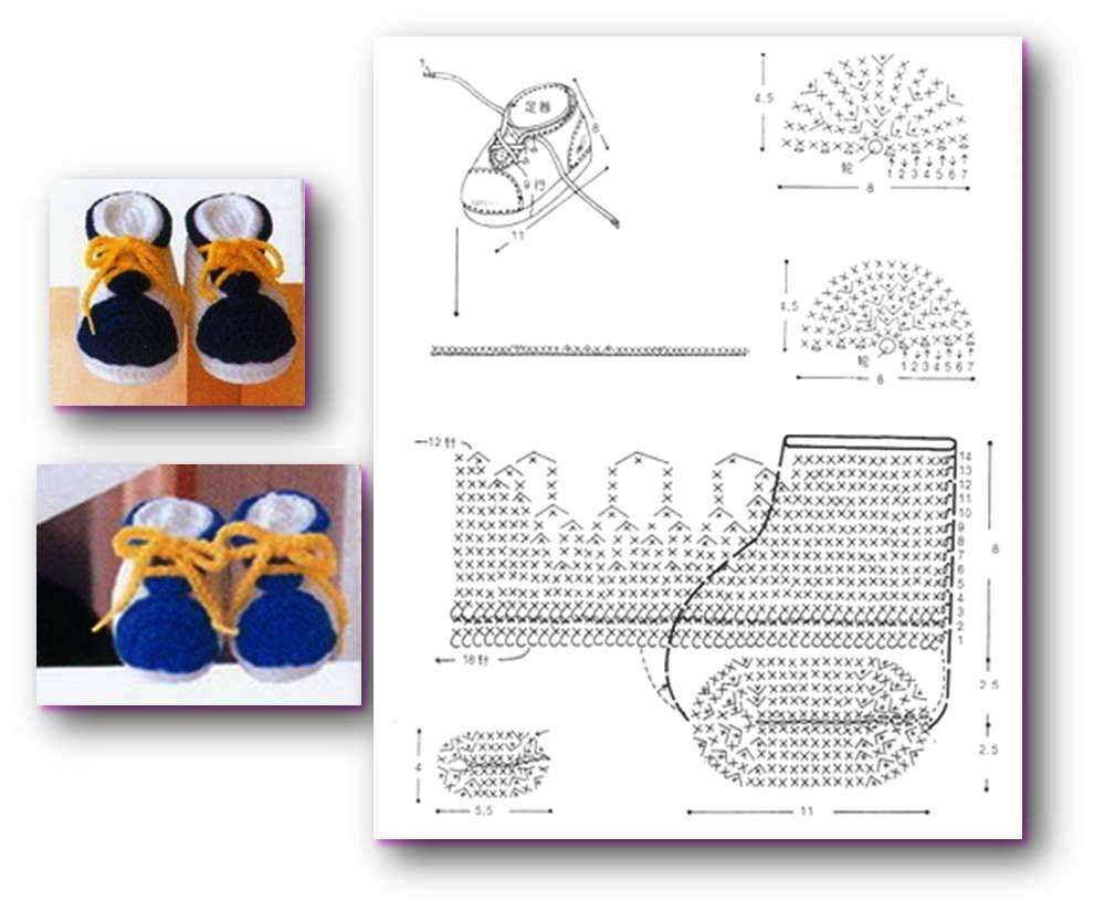 My Crochet , Mis Tejidos: Botines , Escarpines o Zapatitos para ...