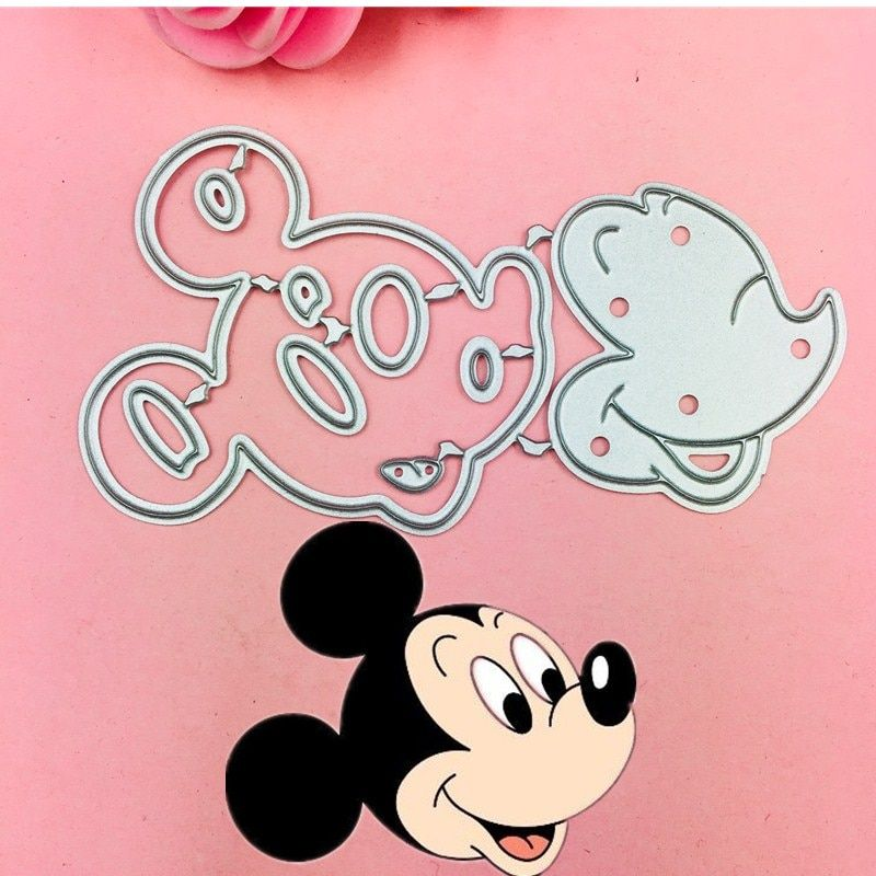 New Mickey and Minne Bow Ear Cutting Dies Stencils for DIY Scrapbooking photo
