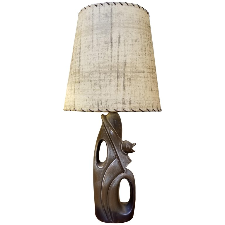 Abstract Ceramic Table Lamp In The Manner Of Heifetz From A