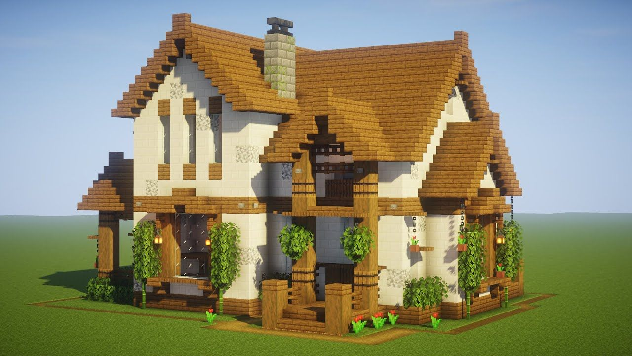 Minecraft Big Cottage House Mansion Tutorial [ How to Make a Cottage House ] 2020