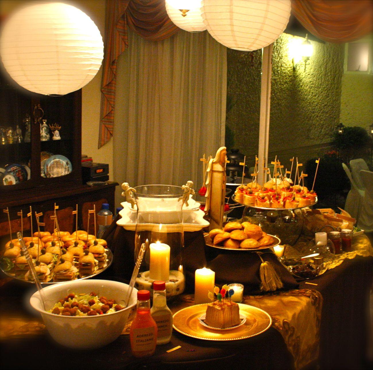 Snack s buffet montado para cumplea os en casa privada - Comidas para un cumpleanos ...
