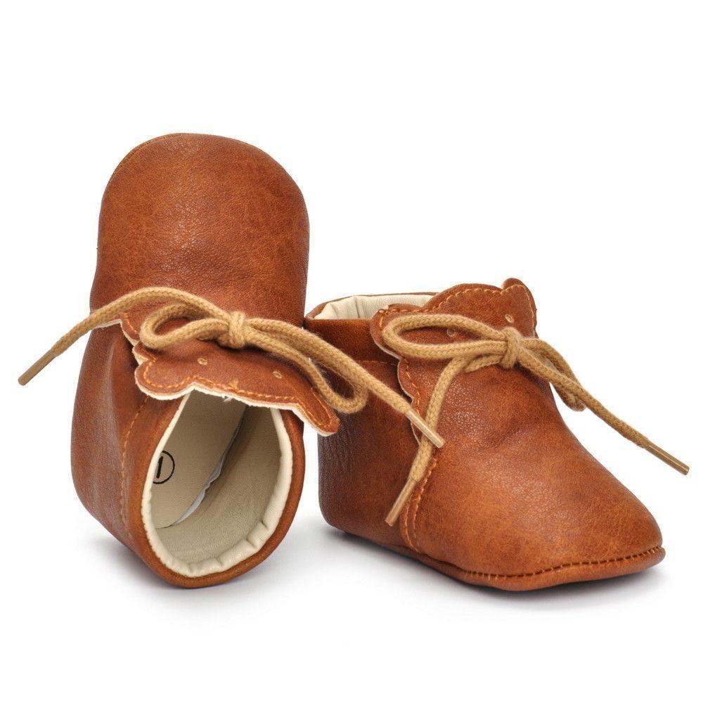 15362cbaa Tan Leather Boots Niños Lindos