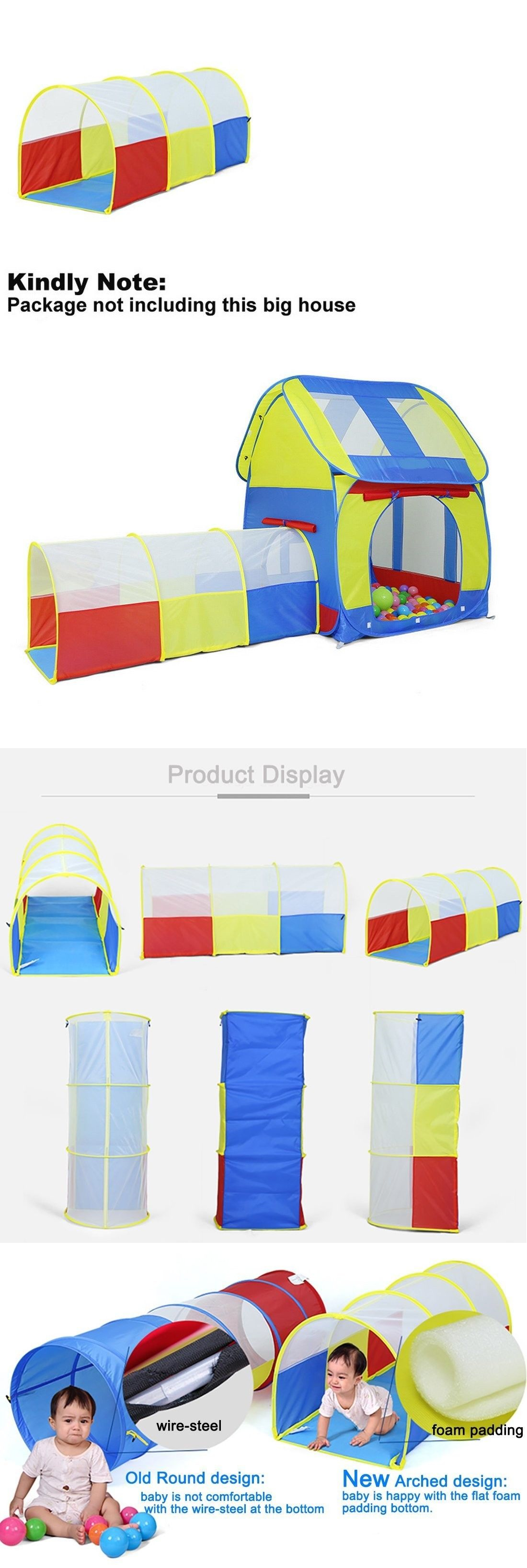 Tunnels 145998 Truedays Arched Play Tunnel Toy Tent Child Kids Discovery Tube Play Tent  sc 1 st  Pinterest & Tunnels 145998: Truedays Arched Play Tunnel Toy Tent Child Kids ...