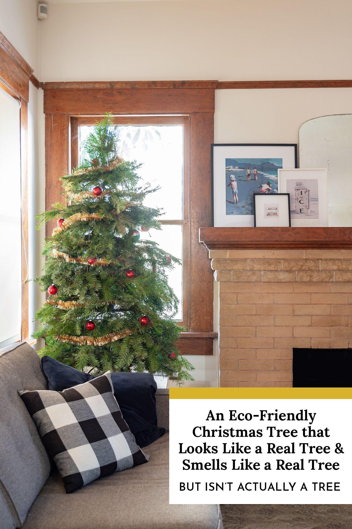 An Eco Friendly Christmas Tree That Looks Like A Real Tree And Smells Like A Real Tree Eco Friendly Christmas Green Christmas Tree Christmas Tree