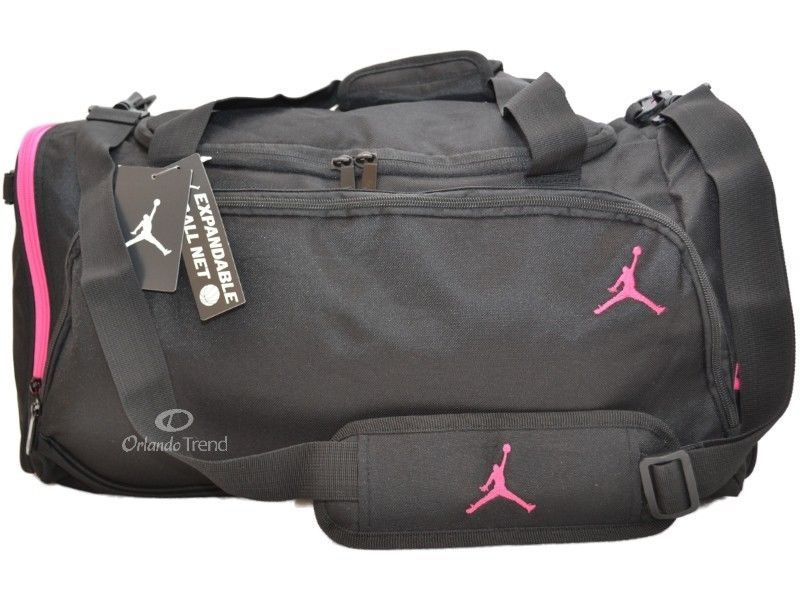 f4f98182dbec50 Nike Air Jordan Duffle Gym Bag Basketball Black Pink Duffel Large Women  Girl  Nike  DuffleGymBag  Basketball  Jordan  OrlandoTrend