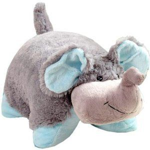 Squishy and soft elephant Pillow Pet, one can not have enough pillow pets roo