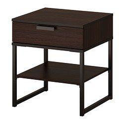 Trysil Bed Frame Dark Brown Luroy Full Trysil Dark Bedside Tables