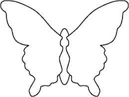Butterfly outline symmetrical. Blank template links to