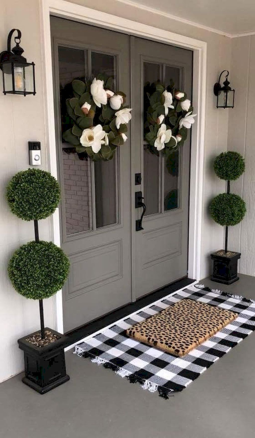 Nice 85 Attractive Spring Farmhouse Decor Ideas For Your Home Inspiration Source Link Htt Front Porch Decorating Porch Decorating Spring Farmhouse Decorating