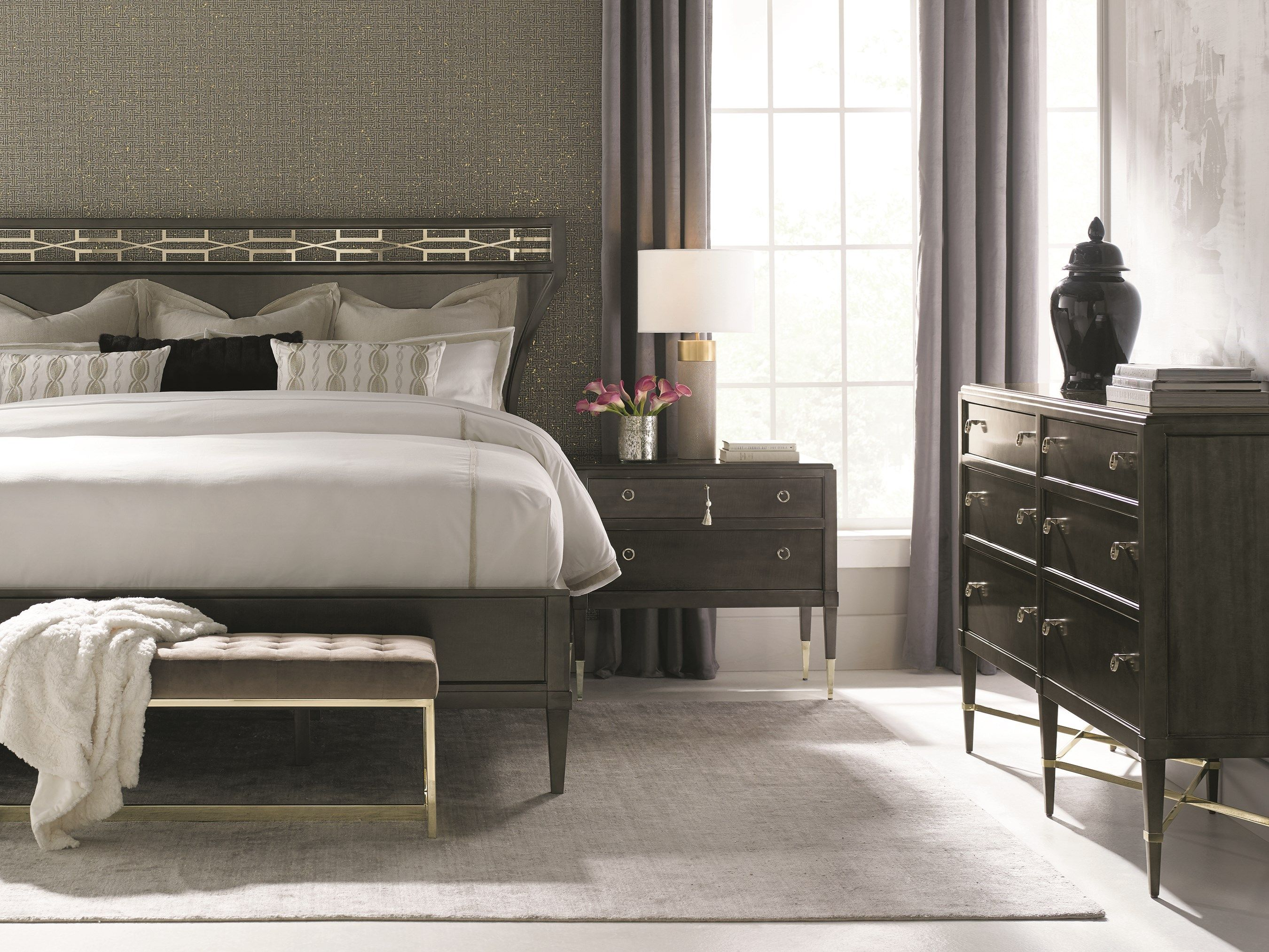 Masterpiece Caracole Sophisticated bedroom, Furniture
