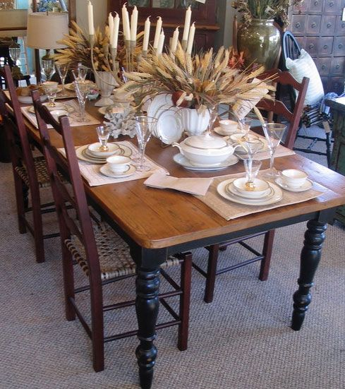 RECLAIMED WOOD This French Country Farmhouse Table By KateMadison Features 100 Year Old