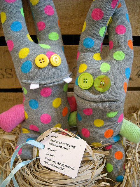 The sock monster twins | Cupcakes, sock creatures, random
