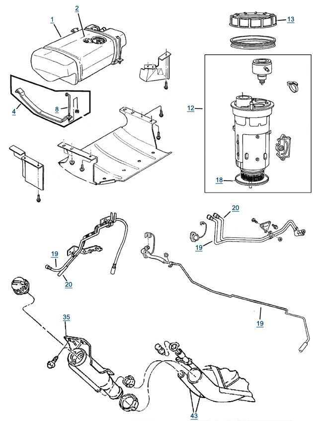 Jeep Fuel Line Diagrams