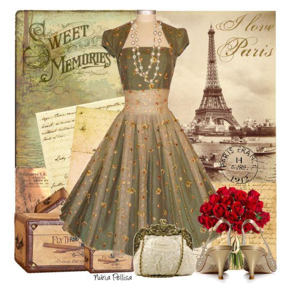 """Vintage style. Rita Glyndawood"" by nuria-pellisa-salvado on Polyvore"