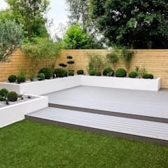 Photo of Small, low maintenance garden minimalist garden from yorkshire gardens minimalistic wood-plastic composite | homify