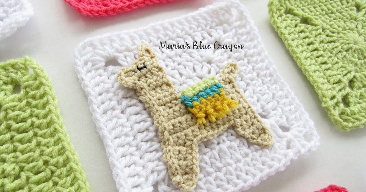 Crochet Llama Applique and Granny Square - Free Crochet pattern ...