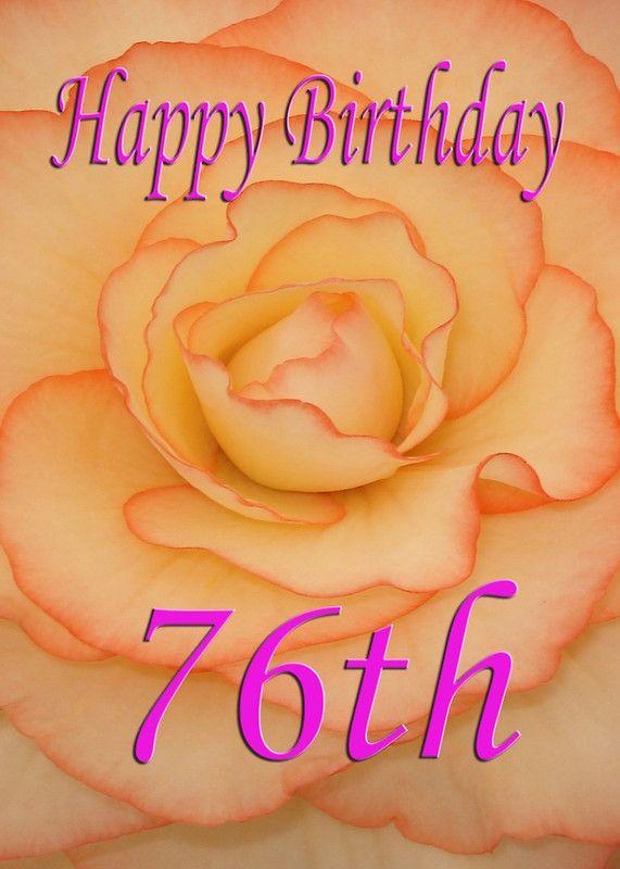 Happy 76th Birthday Flower Birthday Cards Pinterest Birthday