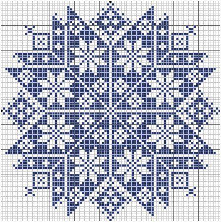 Grille gratuite de point de croix etoile monochrome nice points de croix pinterest - Grille point de croix pinterest ...