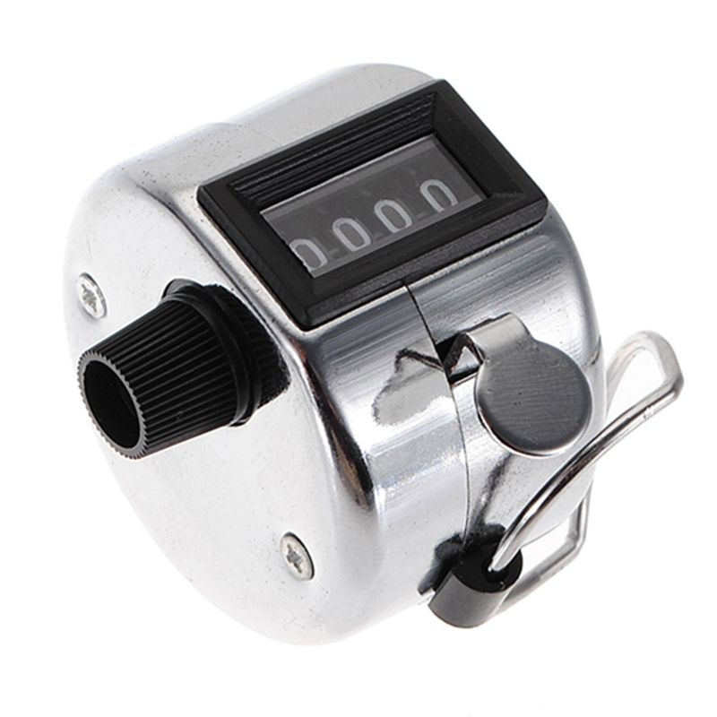 US $3.84 (Buy here: http://appdeal.ru/3n9k ) Hot Sale Best Price Stainless Metal Mini Sport Lap Golf Handheld Manual 4 Digit Number Hand Tally Counter Clicker Silver for just US $3.84