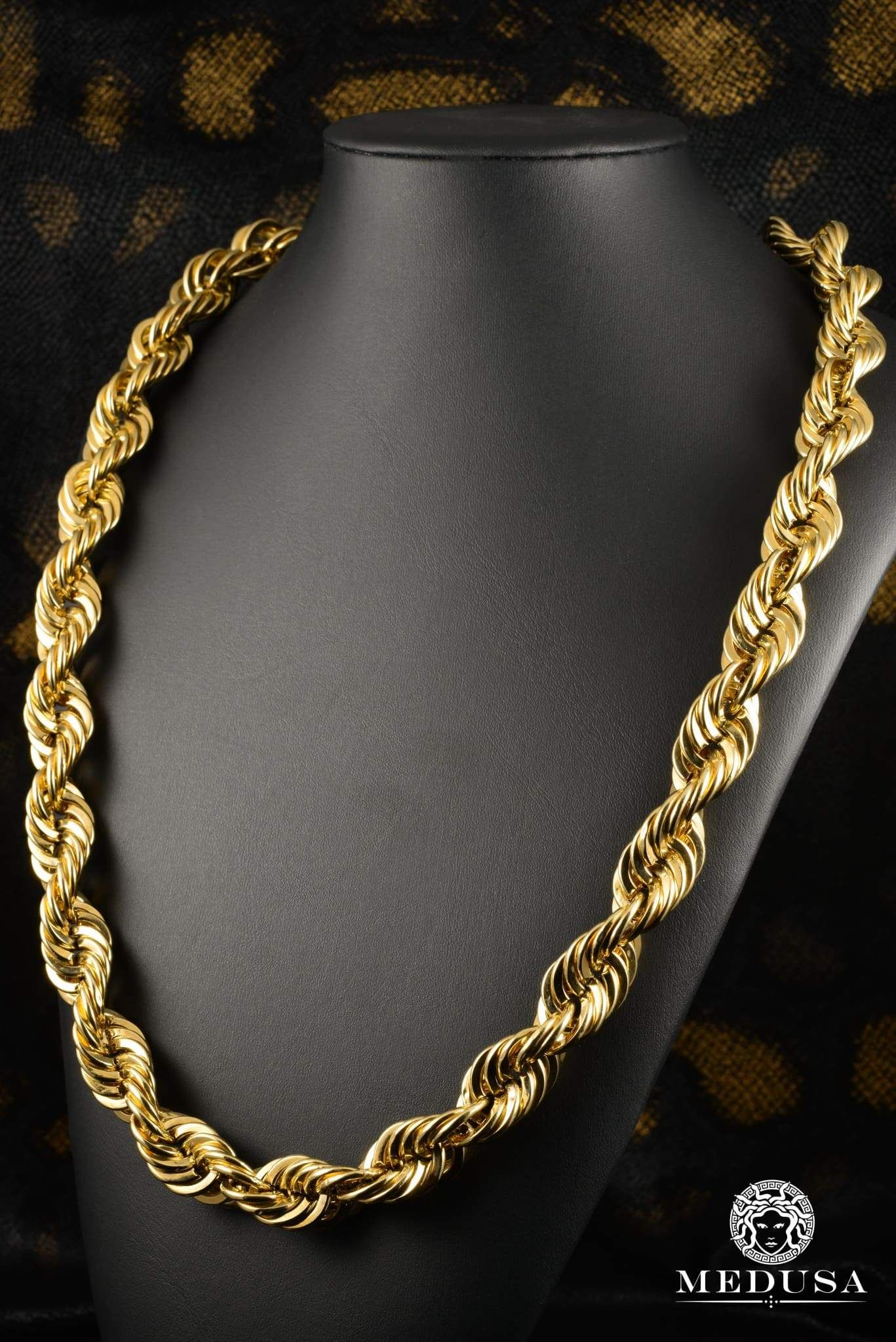 16mm Torsade Gold Chains For Men Gold Jewelry Fashion 18k Gold Chain