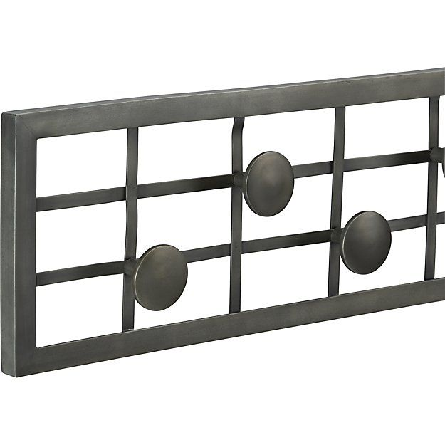Grid Wall Mounted Coat Rack | Crate and Barrel