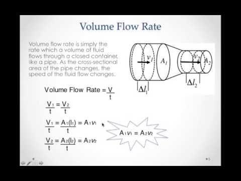 Fluids Volume Flow Rate Mp4 Youtube Flow Fluid Volume