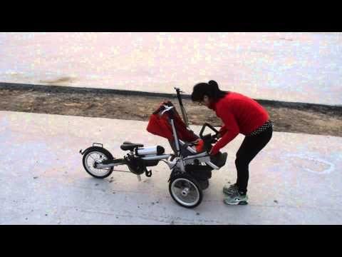 Electric motorized stroller: 1000 Watt 48 Volt electric motor. Top ...