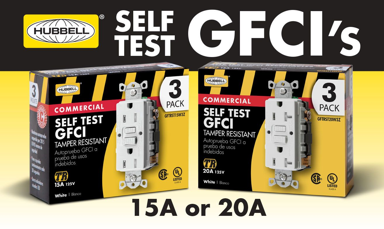 Find Hubbell #SelfTesting #GFCI receptacles on display In select ...