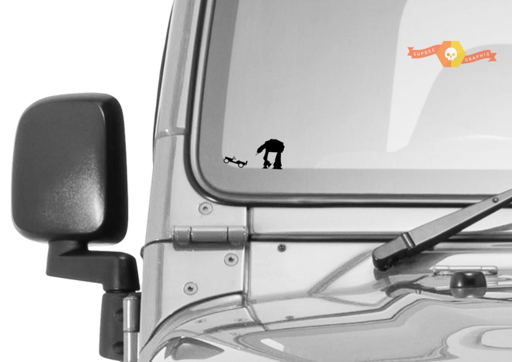 Jeep Windshield At At Easter Egg Companion Vinyl Decal En 2020 At At