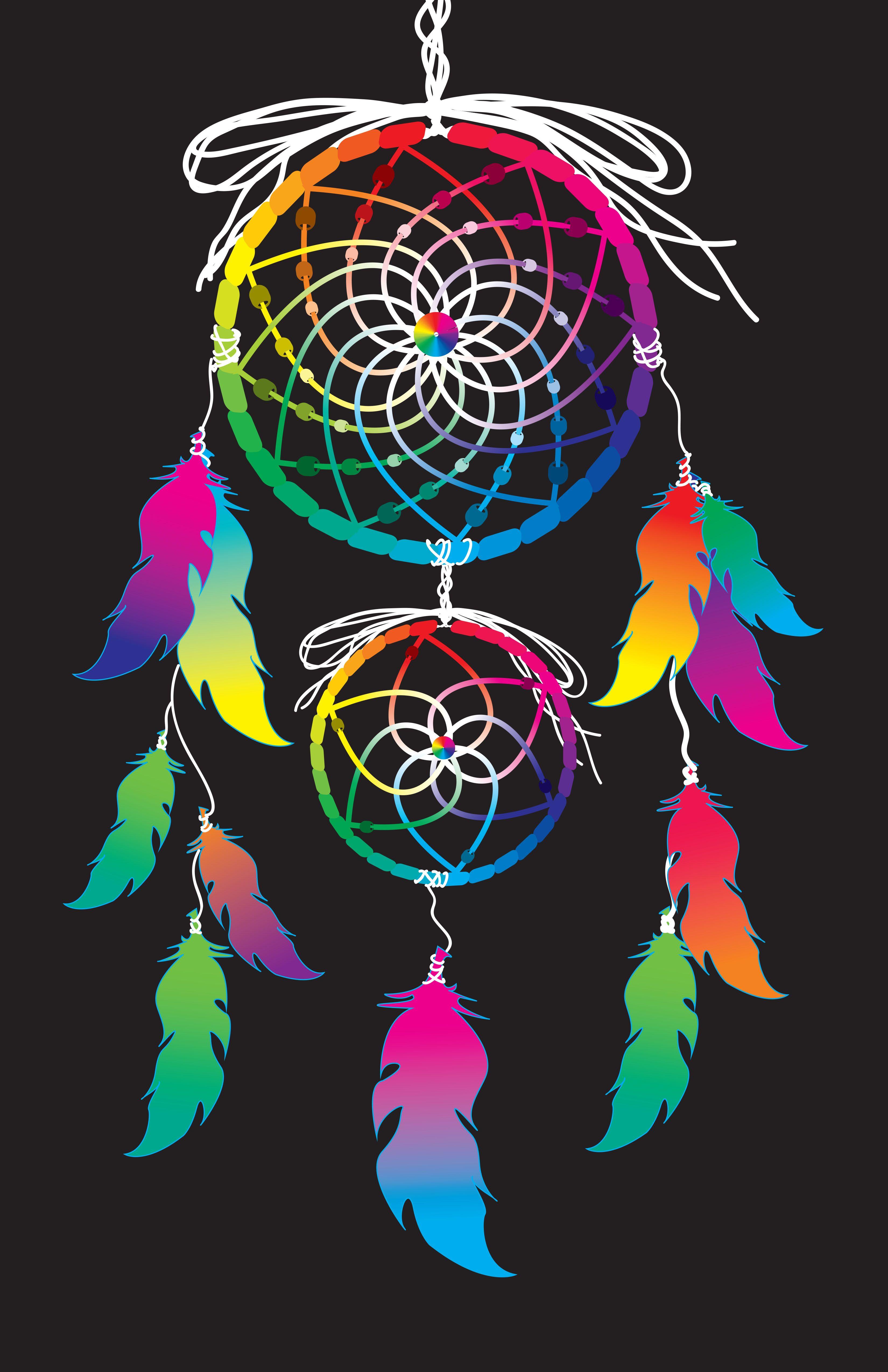 Color art dreamcatcher - Color Wheel Graphic Design Dreamcatcher