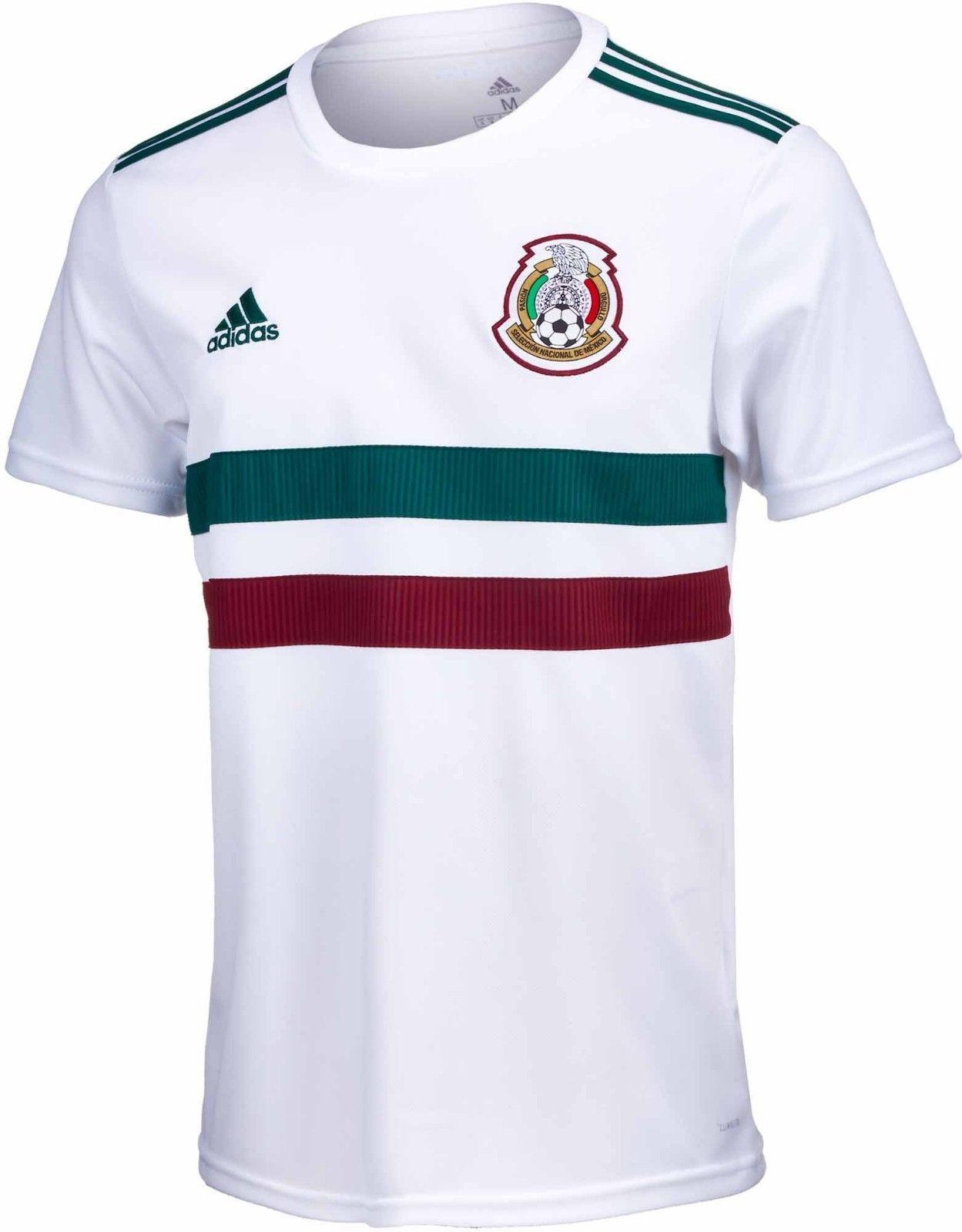 07ab0b353 adidas Men s Mexico 18 19 Away Jersey White Green BQ4689 (eBay Link ...