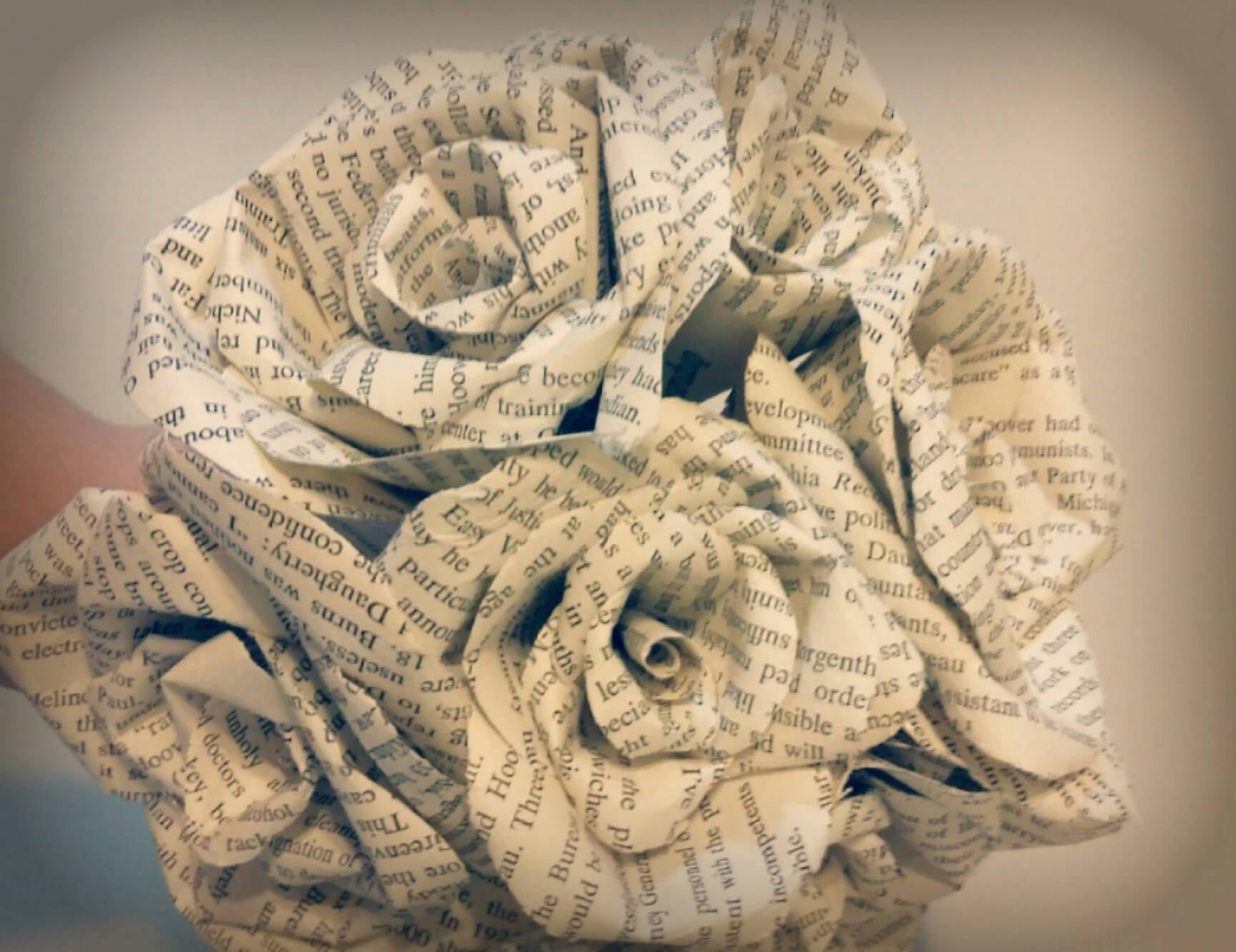 Book Page Paper Flower Bouquet by AbditoryDesigns on Etsy  Scope