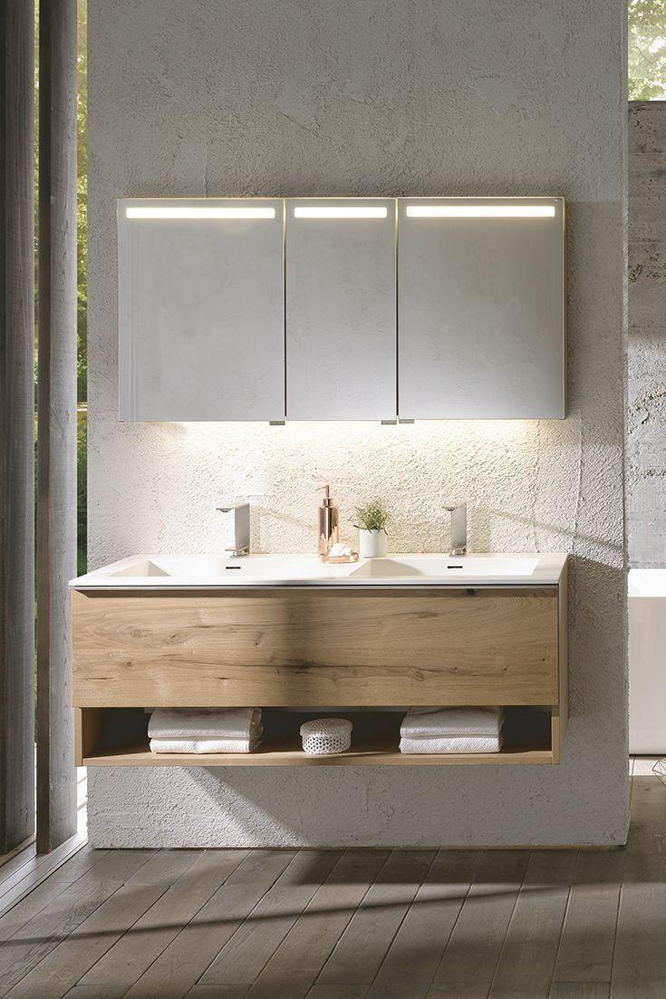 Photo of V-Alpin bathroom by Voglauer in old oak rustiko | Möbel Letz – your online shop