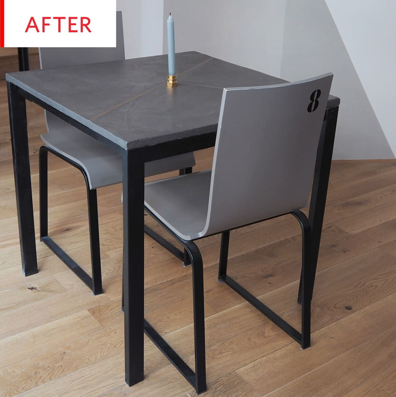 Before And After This Ikea Melltorp Table Is Now Unrecognizable