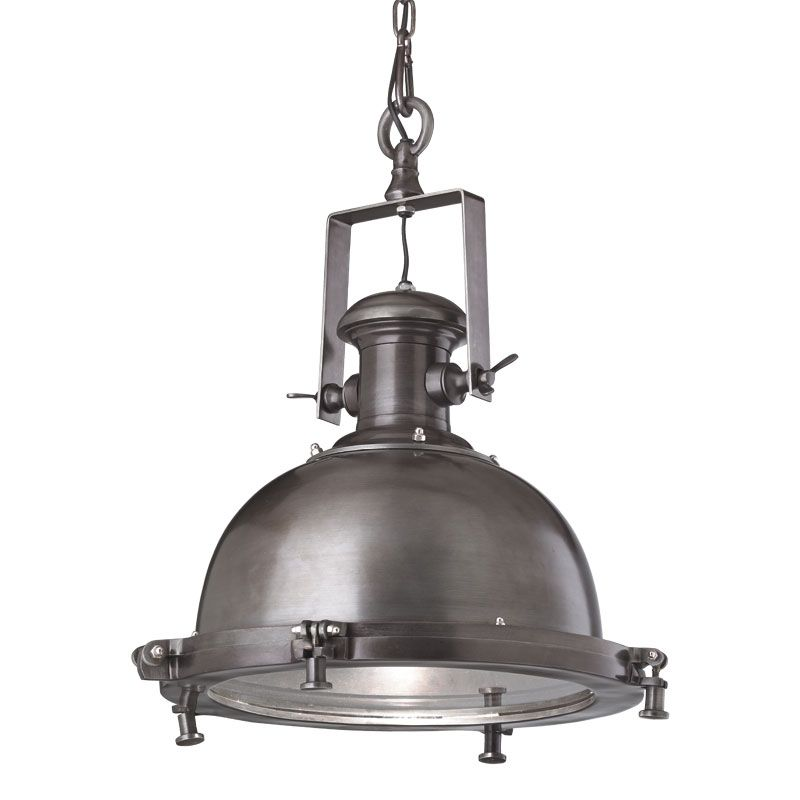 Industrial pendant in an antique zinc finish with glass insert to industrial pendant in an antique zinc finish with glass insert to gently diffuse the light aloadofball Images