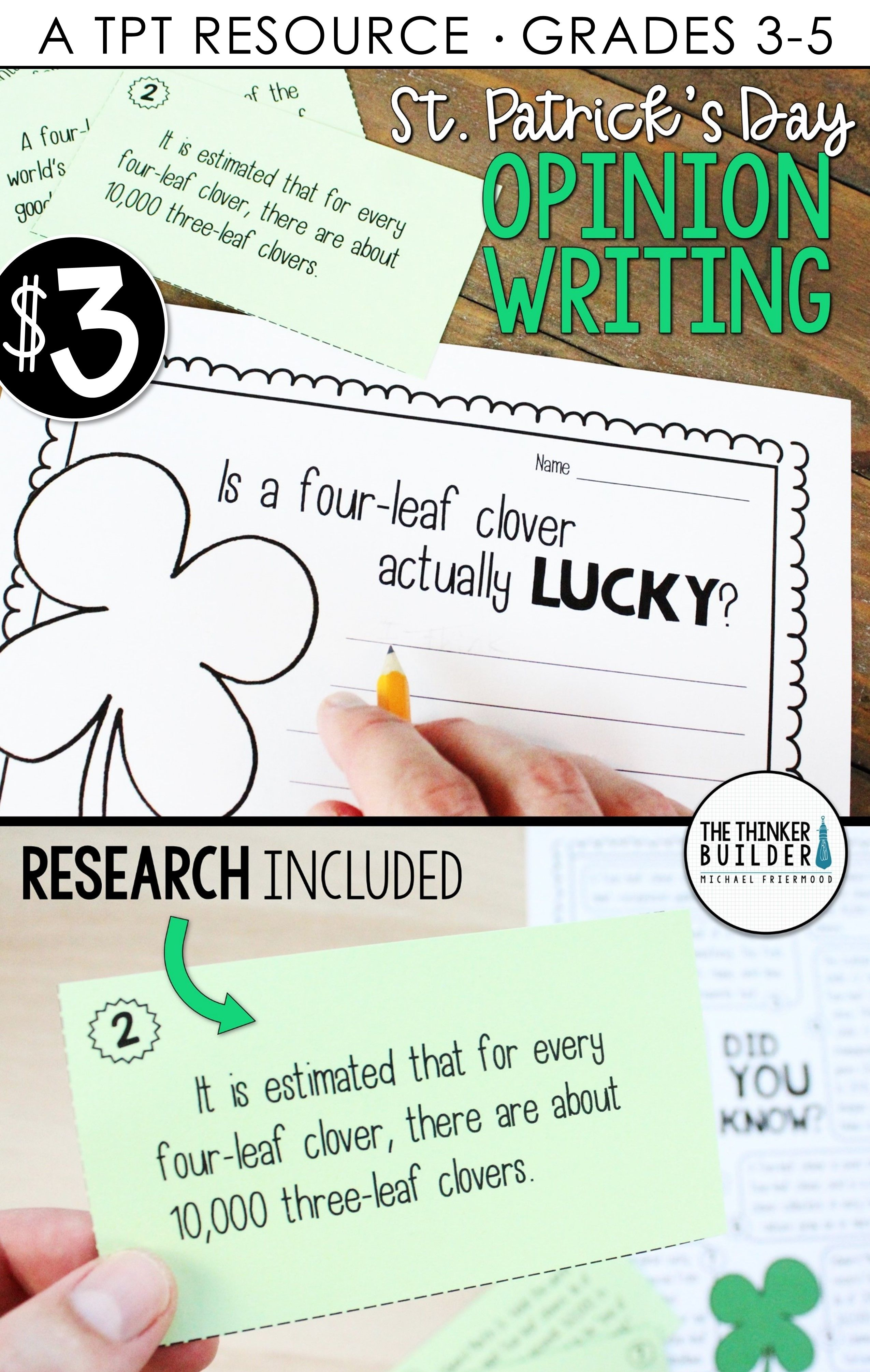 St Patrick S Day Opinion Writing Lesson Activity Digital Print Opinion Writing Opinion Writing Lessons Writing Lessons [ 4020 x 2550 Pixel ]