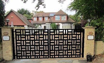 Contemporary Driveway Gate On Sale Modern Metal Garden Wrought Iron Steel 12 Ft Puertas De Jardin De Hierro Diseno De Puerta De Hierro Disenos De Puertas Metalicas