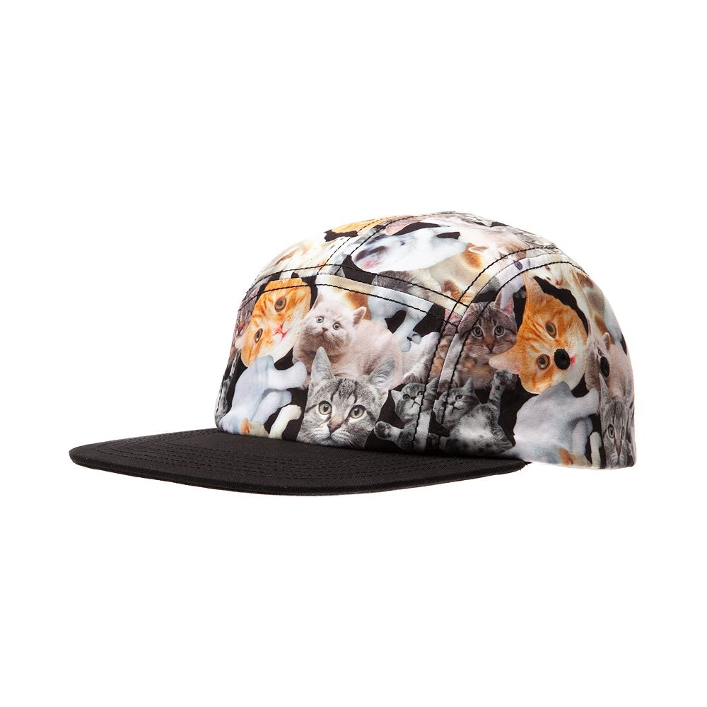 Cat print Admiral hat. Cats on everything! 5 panel construction with an  adjustable closure and allover cat print. 9d8079d71530