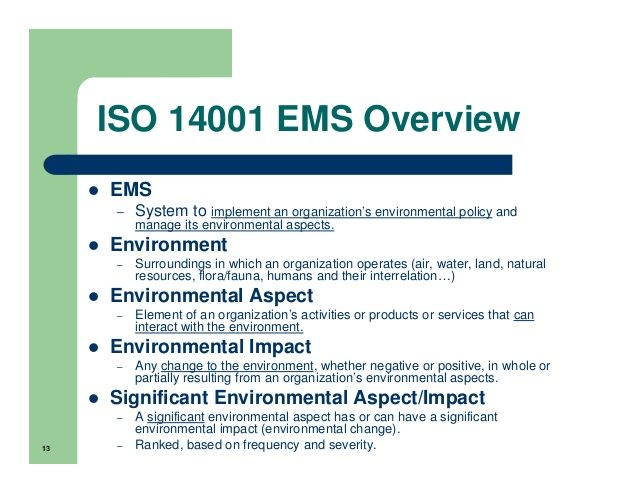 Aspect And Impact Register Iso 14001 Ems