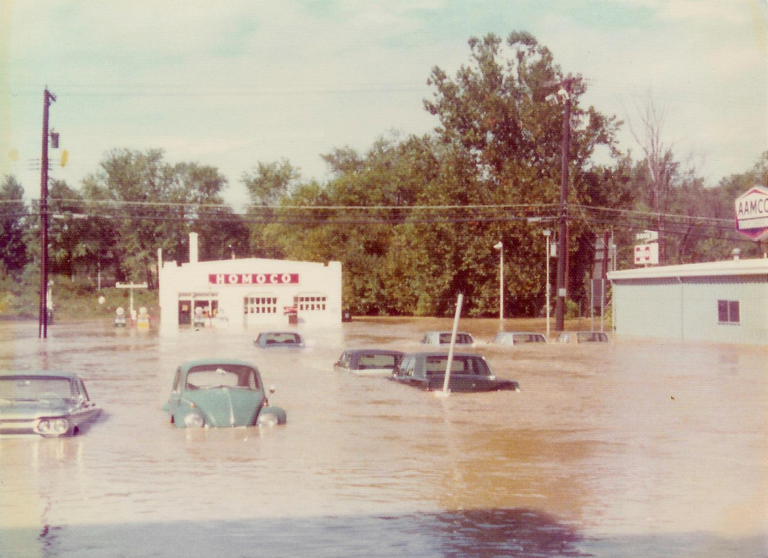 Homoco, flooded during Hurricane Agnes, 1972. Washington