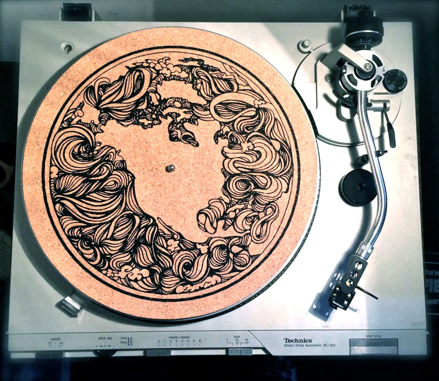 Cork Slip Mat Hand Sanded Organic Turntable Mat For Ultimate Vinyl Grip Screen Printed In The Usa Turntable Mat Turntable Handcraft