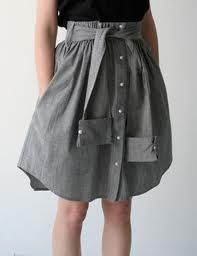 Wow! Make your own skirt out of an old shirt!